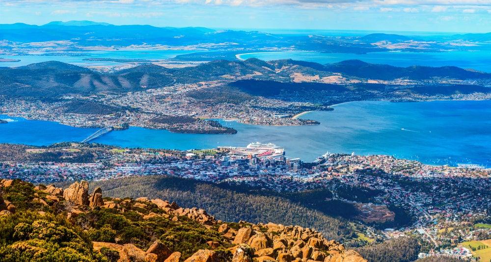 Hobart en la isla de Tasmania