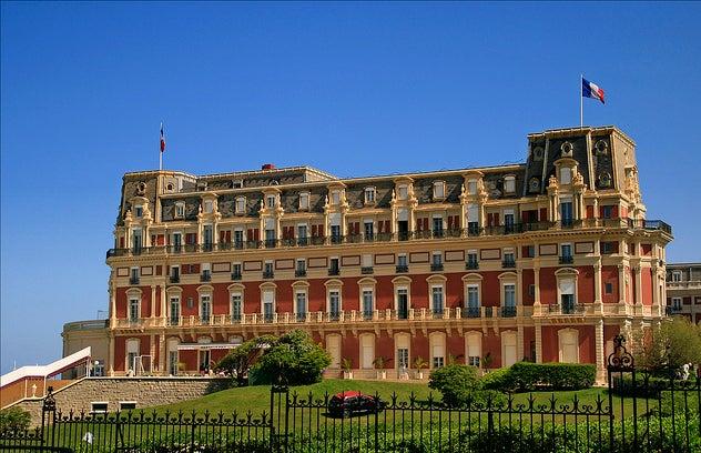 Hotel du Palais uno de los lugares que ver en Biarritz