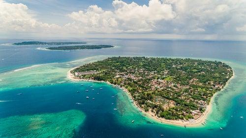Islas Gili desde el aire