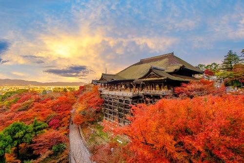 Templo Kiyomizudera en Japón