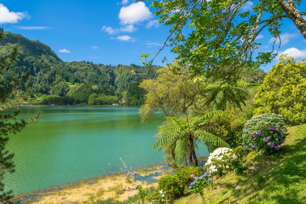 Lagoa das Furnas en Portugal