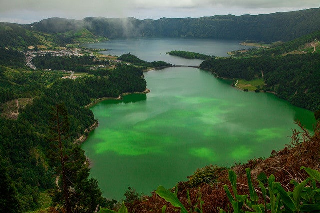 Lagoa das Sete Cidades en Portugal