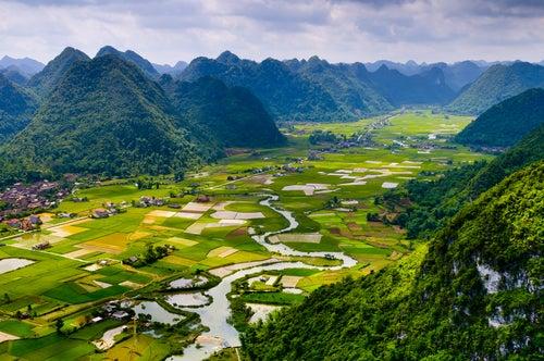 Paisaje de Vietnam, uno de los países de Asia más bellos