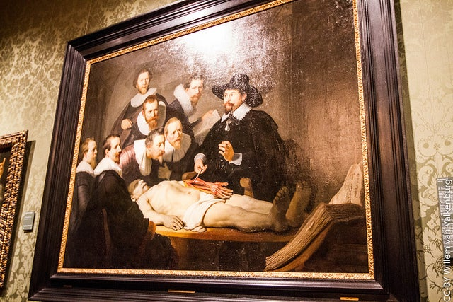 LEcción de anatomía, de Rembrandt