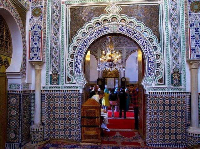 Mausoleo Moulai Idriss en Fez, Marruecos