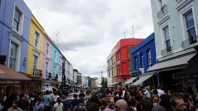 Mercadillo de Portobello Road en Notting Hill