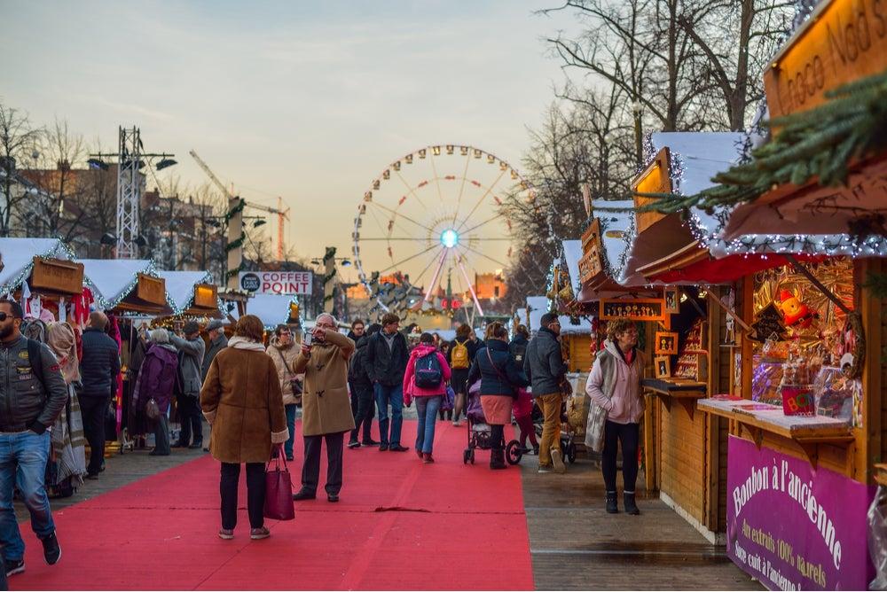 Mercadillo navideño en Bruselas