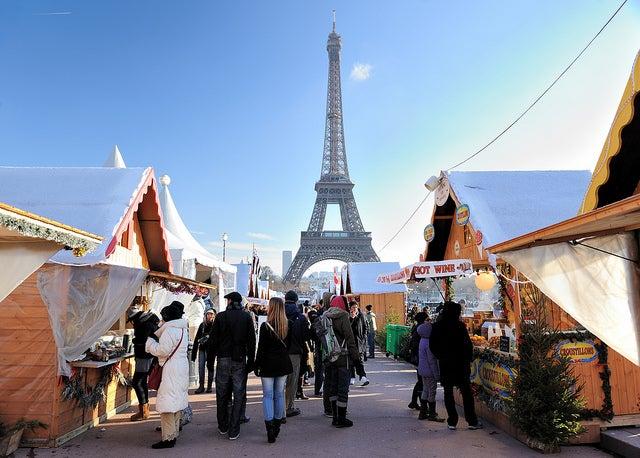 Mercado de Navidad en París