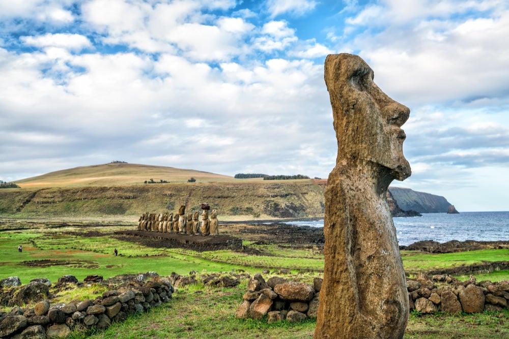 Moai en isla de Pascua