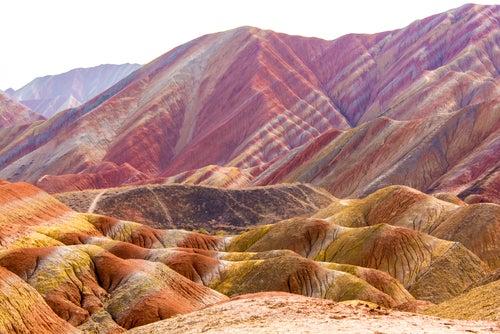 Montañas de Zhangye, uno de los paisajes de China más increíbles