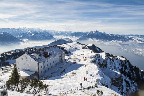 Vista de Suiza desde el Monte Rigi