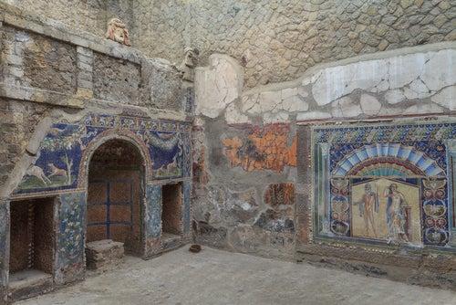Mosaico de Neptuno y Anfítitre en Herculano