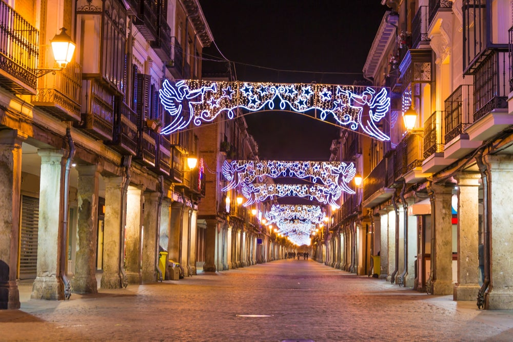 Decoración navideña en Alcalá de Henares