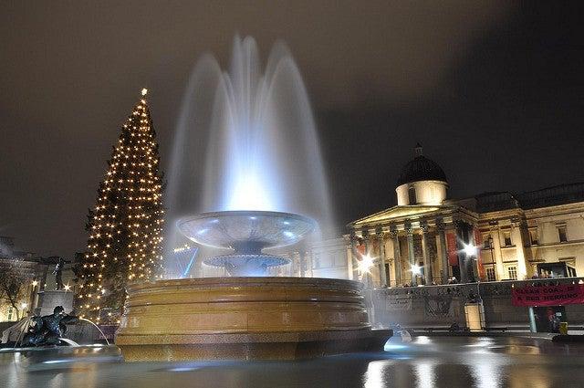 Londres en Navidar: Tragalgar Square