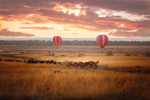 Parque Nacional Masai Mara en globo