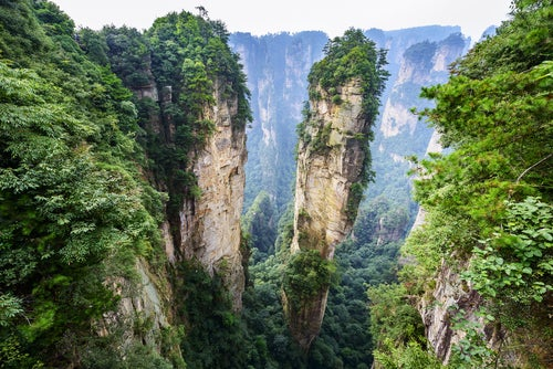 Parque Zhangjiajie, uno de los paisajes de China más bonitos