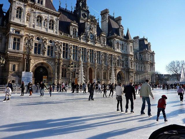 París en Navidad: pista de hielo