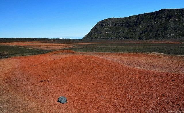 Paisaje volcánico en Isla Reunión