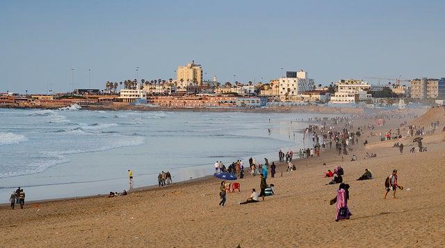 Visitar la playa,una de las cosas que hacer en Casablanca