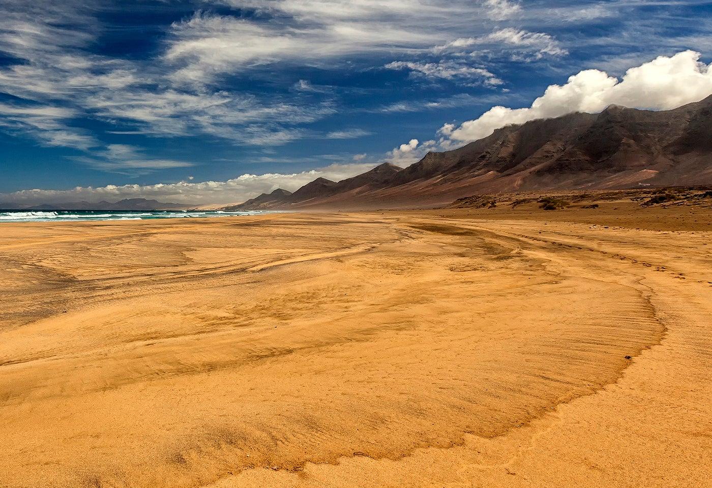 Playa deCofete en Fuerteventura, Islas Canarias.