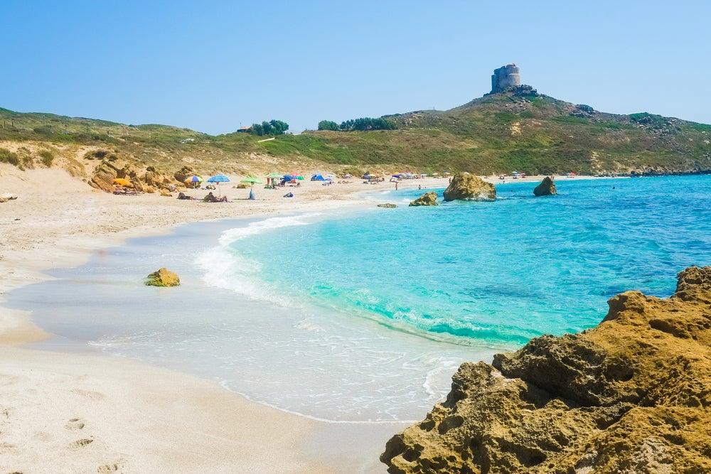 Playa de Oristano en Cerdeña
