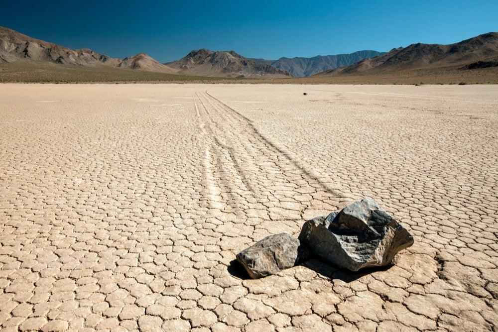 Playa Rascetrack en el Valle de la Muerte