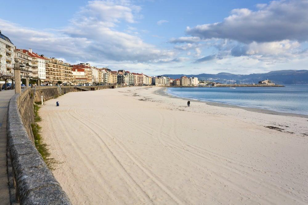 Playa Silgar en Sanxenxo en las Rías Baixas gallegas