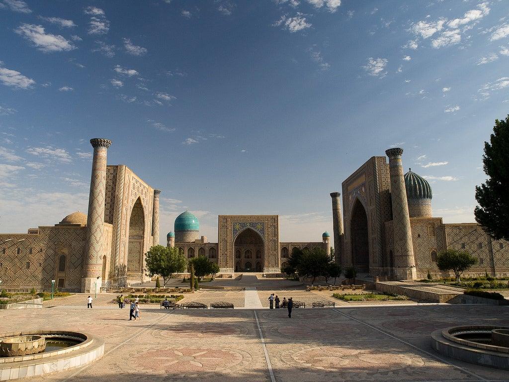 Plaza de Registán en Samarkanda