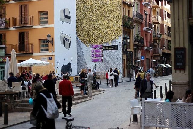 Plaza del Tossal en Valencia