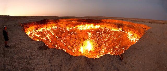 Puerta al Infierno en Turkmenistán