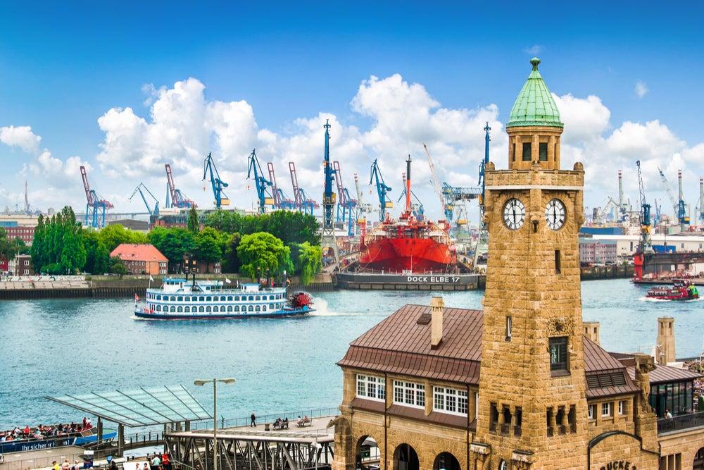 Puerto de Hamburgo en Alemania