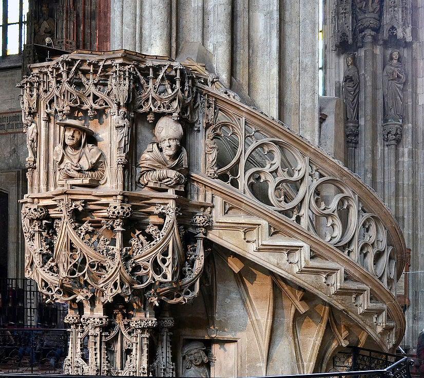 Púlpito en la catedral de Viena