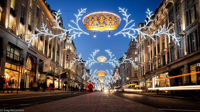 Londres en Navidad: Regent Street