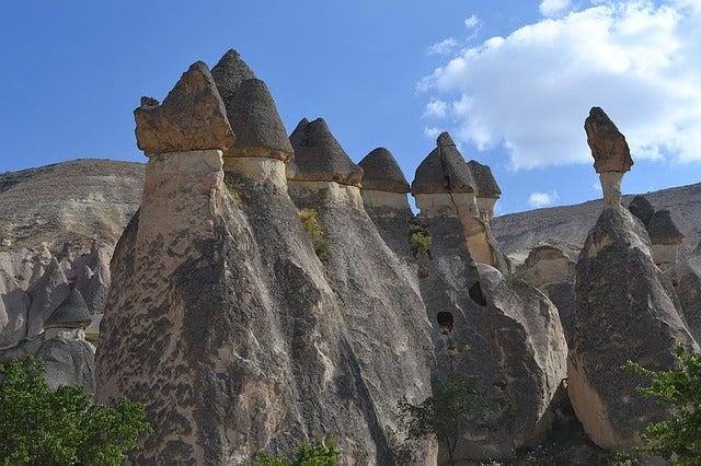 Formaciones rocosas en Capadocia