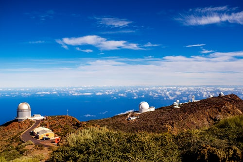 Roque de los Muchachos en la isla de La Palma