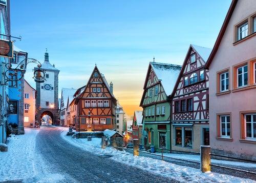 Rothenburg ob der Tauber en invierno