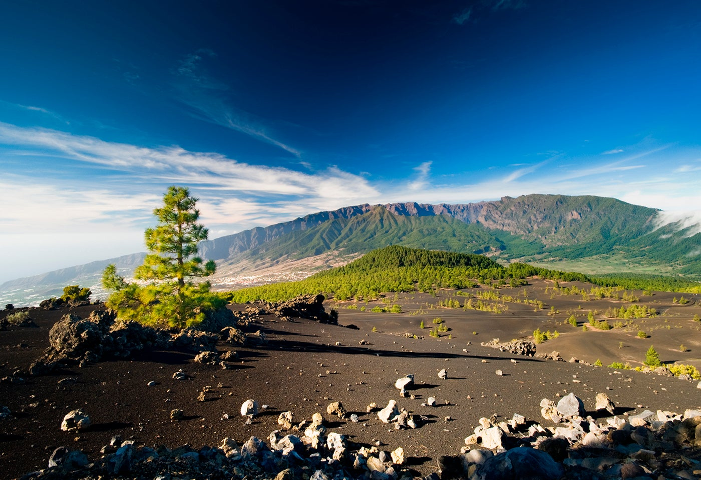 Ruta de los Volcanes en la isla de La Palma