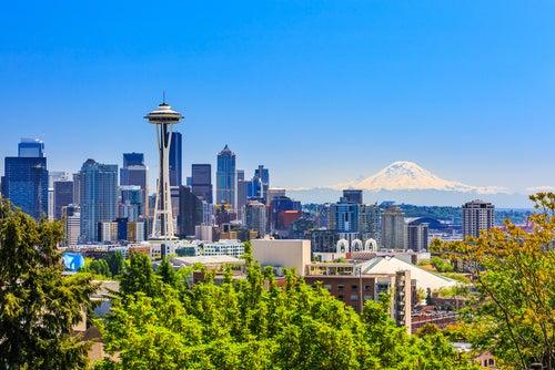 Seattle en la Costa Oeste de EEUU