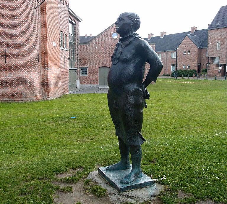 Estatua del penitente en Gante