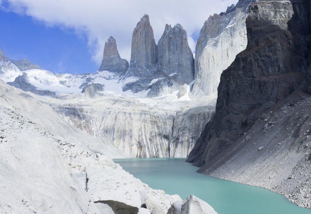 Paisaje invernal en Torres del Paine