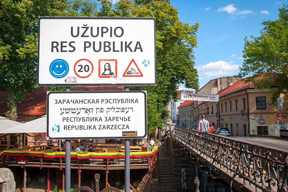 UZupis en Vilna, la capital de Lituania