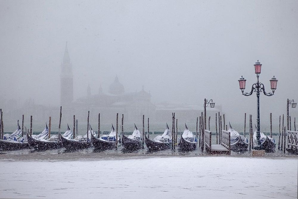 Tiempo en Venecia: invierno y nieve
