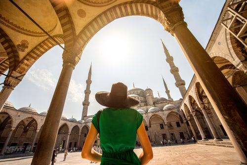 Turista en Estambul