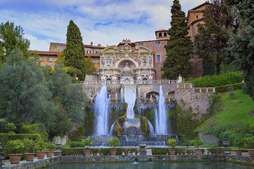 Villa del Este en Tívoli, cerca de Roma