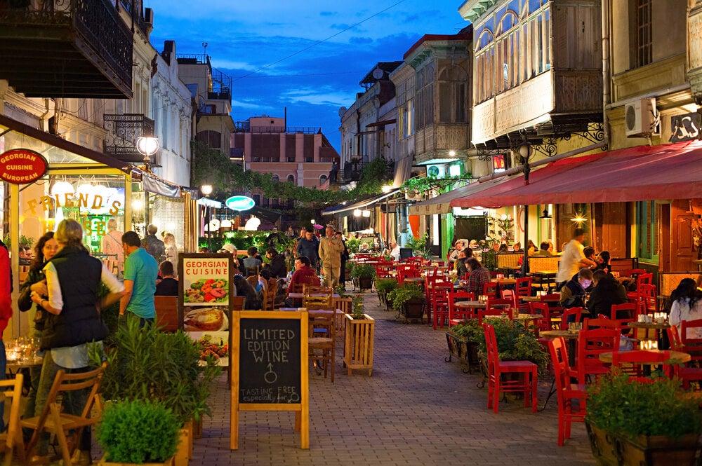 Zona de ocio en Tiflis