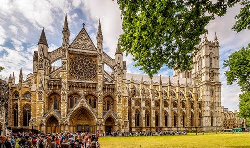 Abadía de Westminster cerca del Big Ben