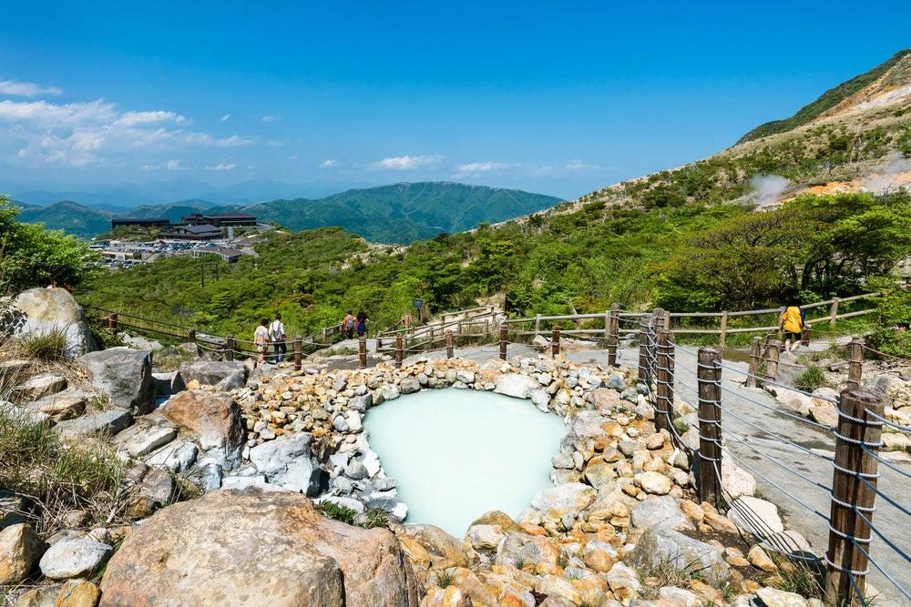Aguas termales en Hakone, en Japón