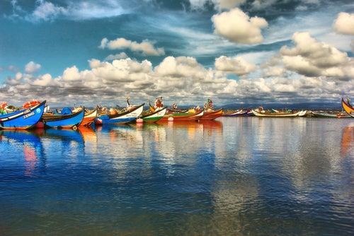 Barcas en Aveiro