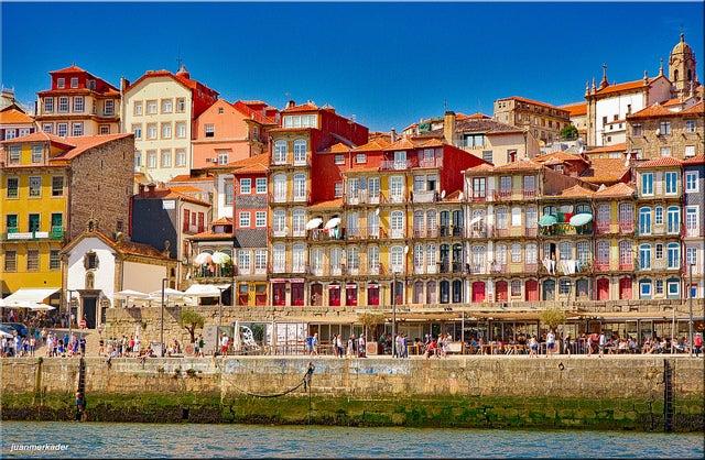 Barrio de la Ribeira en Oporto