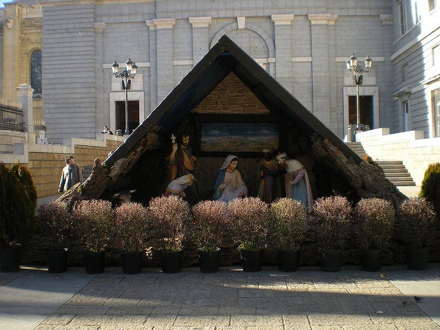 Belén dela catedral de la Almudena de Madrid
